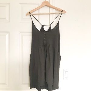 Free People Beach Strappy Dress Olive Green